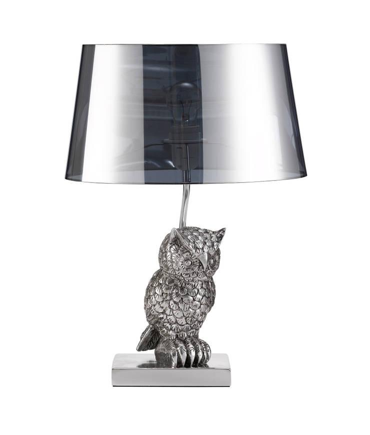 Animal Table Lamp Owl Left Chrome:  de style  par Muno