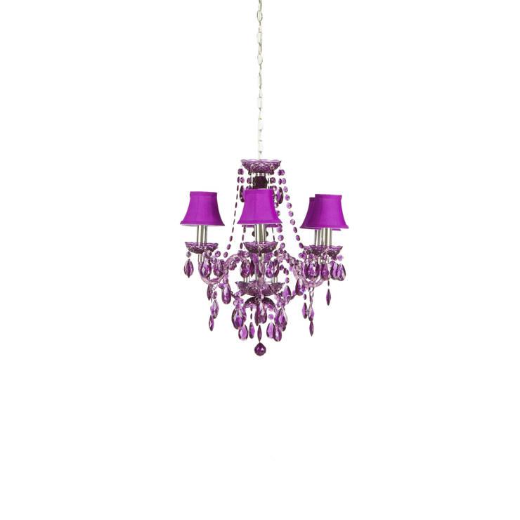 Romeo Chandeliers 6 Purple:  de style  par Muno