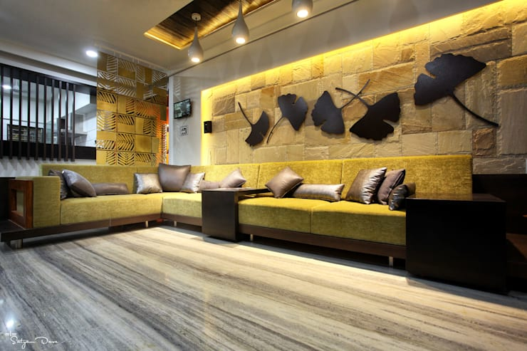 living :  Living room by satyam dave photography
