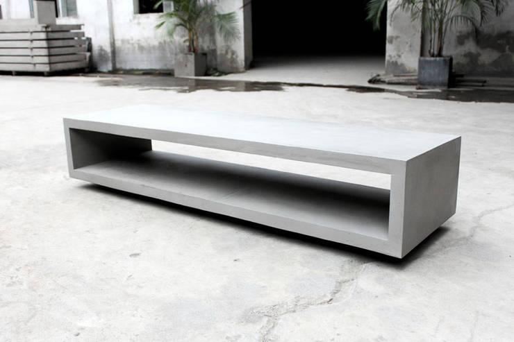 MONOBLOC Meuble TV béton:  de style  par Lyon beton