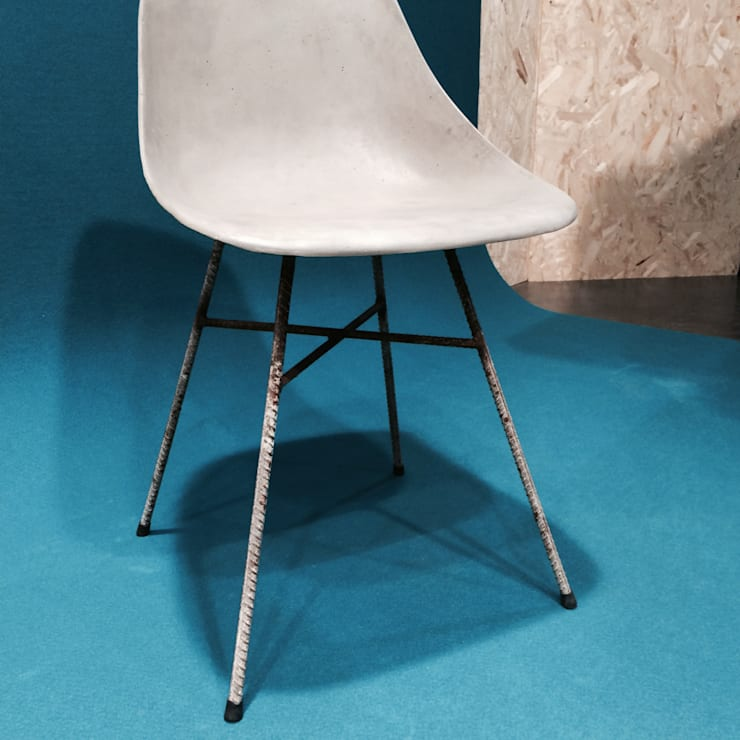 Chaise d'HAUTEVILLE béton:  de style  par Lyon beton