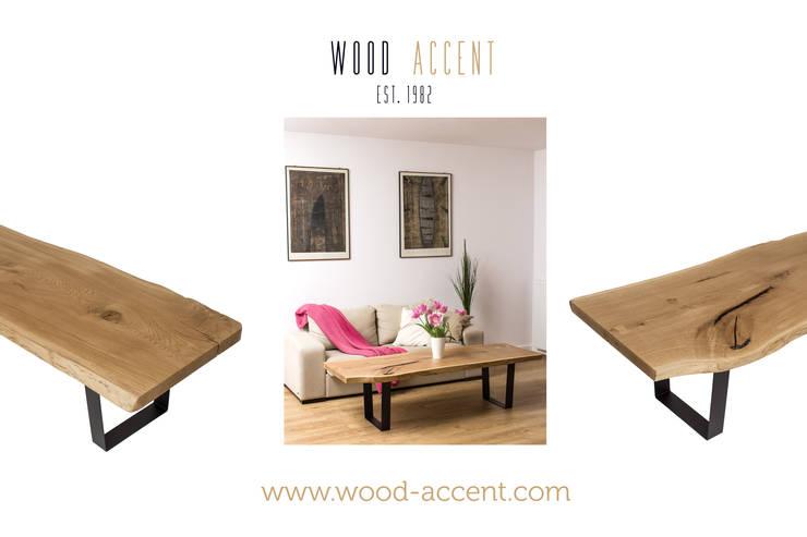 WOOD ACCENT: styl , w kategorii Jadalnia zaprojektowany przez WOOD ACCENT