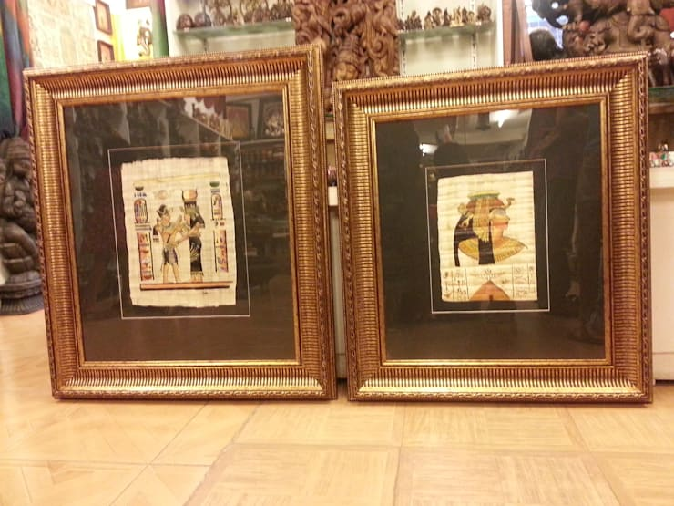 ORIGINAL EGYPTIAN PAPYRUS PAINTINGS:  Artwork by SHEEVIA  INTERIOR CONCEPTS