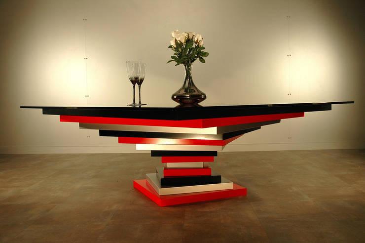 Table basse Spirale carrée: Salon de style  par Design Bois Creation