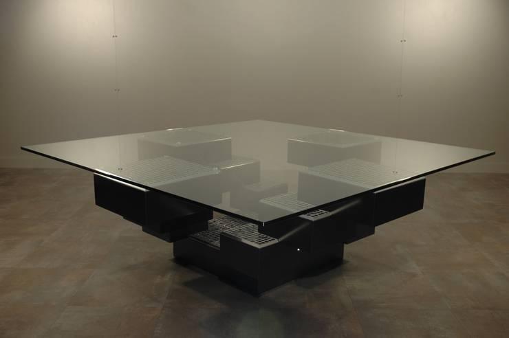 Table basse Mosaïque: Salon de style  par Design Bois Creation