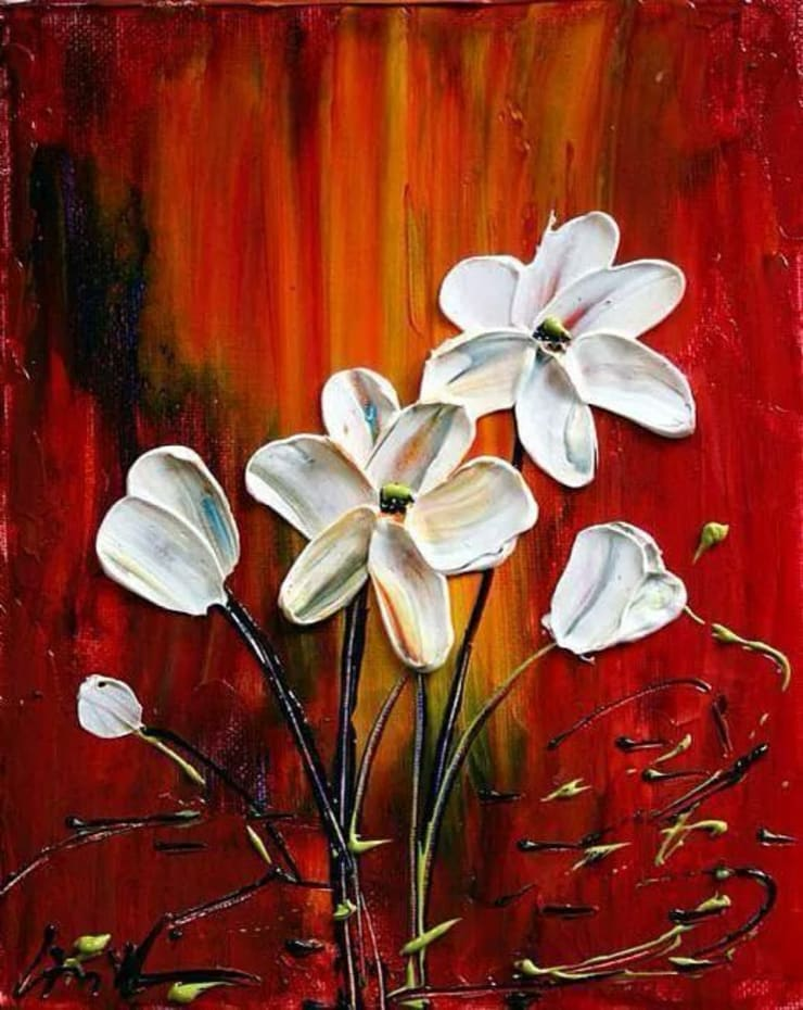 Mini Floral arts for home interiors:  Artwork by SHEEVIA  INTERIOR CONCEPTS