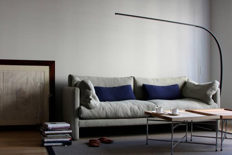 Astiva sofa for TRISHNA JIVANA: TOMOYUKI MATSUOKA DESIGNが手掛けたリビングルームです。