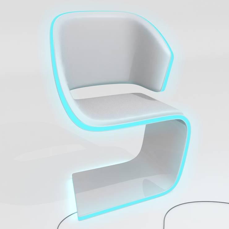 Lamed Chair design : Salon de style  par luxense design