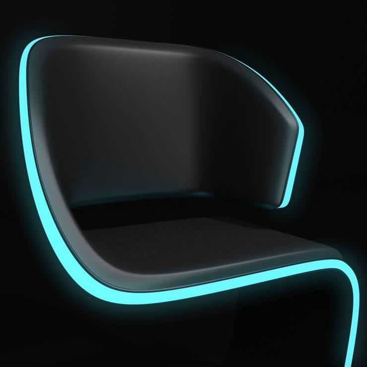 Lamed Chair design © Rodolphe Pauloin: Salon de style  par luxense design