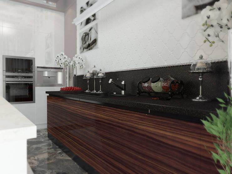 Проект пентхауса. Кухня.: Кухни в . Автор – Katerina Butenko, Классический