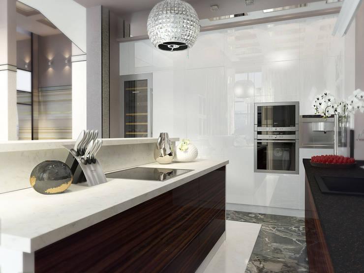 Проект пентхауса. Кухня.: Кухни в . Автор – Katerina Butenko
