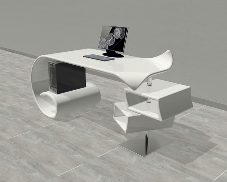 scrivania Waves: Studio in stile in stile Moderno di B & G design