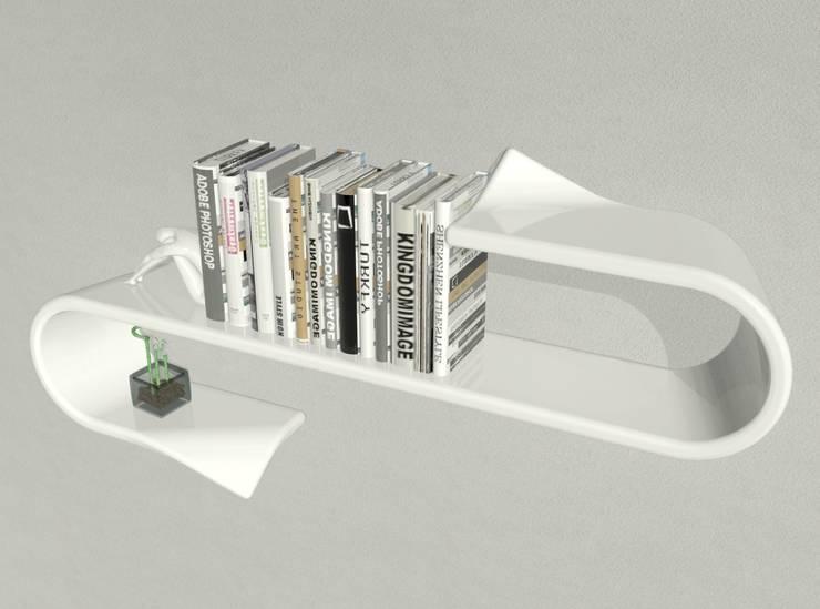 mensola Waveshelf: Studio in stile  di B & G design