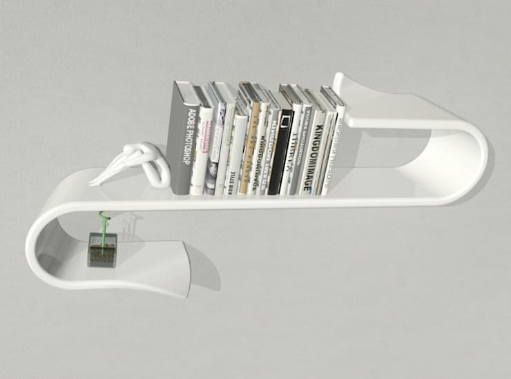 Waveshelf: Studio in stile  di B & G design