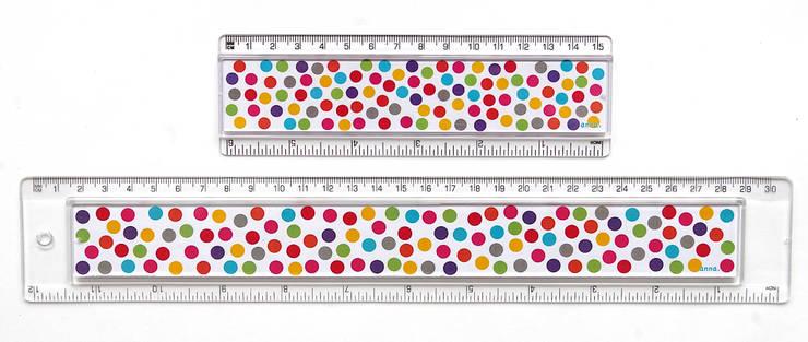 Règle <q>décorative</q> à pois multicolores: Bureau de style  par anna's shop