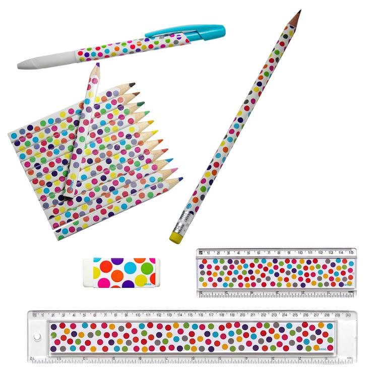 """Règle """"décorative"""" à pois multicolores: Bureau de style  par anna's shop"""