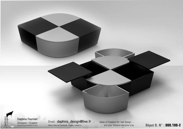 DOMINO: Salon de style de style Moderne par Daphnis Fournier