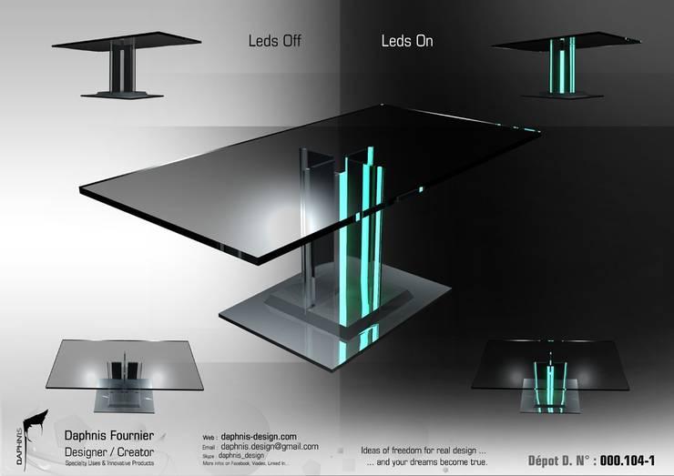Tron Legacy Table:  de style  par Daphnis Fournier