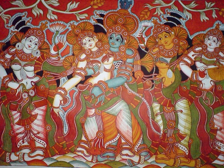 Traditional tanjore paintings and Kerala murals:  Artwork by SHEEVIA  INTERIOR CONCEPTS