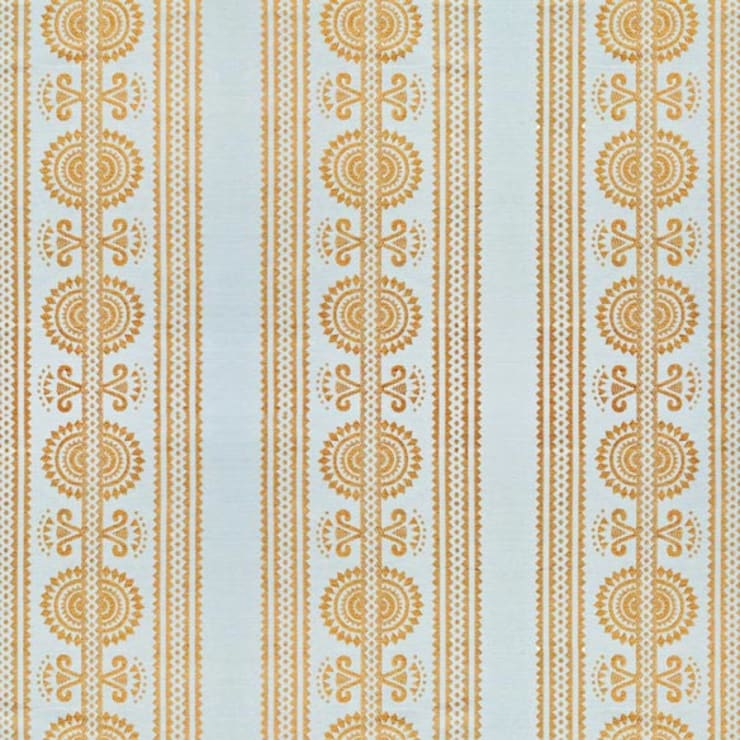 Kurpie :: Fabric :: Gold:  Living room by Julia Brendel Limited