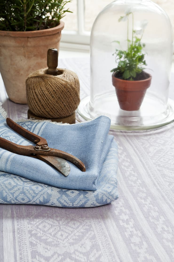 Hungarica :: Tablecloth :: 100% Linen:  Living room by Julia Brendel Limited