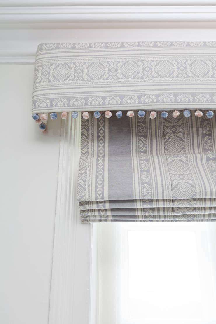 Hungarica :: Fabric :: Ecru / Gunmetal (reversible):  Living room by Julia Brendel Limited