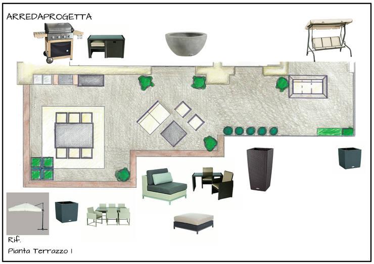 Proposta Arredamento terrazzo n 1:  in stile  di Arreda Progetta di Alice Bambini