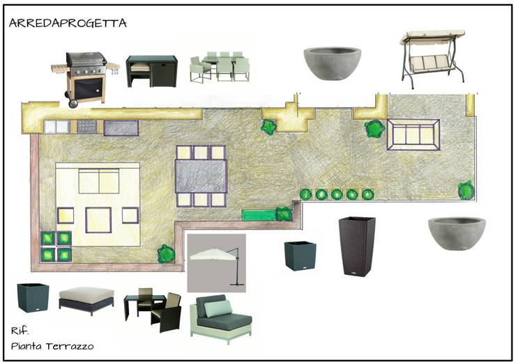 Proposta arredamento terrazzo n 2:  in stile  di Arreda Progetta di Alice Bambini