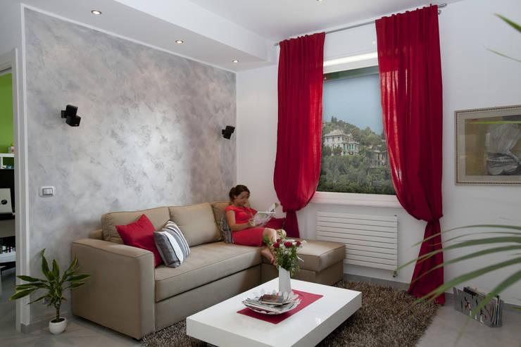 Appartamento Privato Rapallo: Soggiorno in stile  di Studio_P - Luca Porcu Design