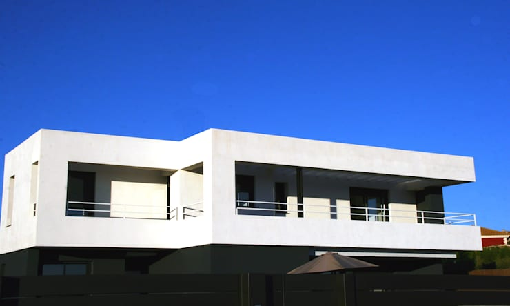 Unifamiliar en Viñas de Son Verí. JAIME SALVÁ, Arquitectura & Interiorismo.  www.salvarq.com: Casas de estilo  de JAIME SALVÁ, Arquitectura & Interiorismo