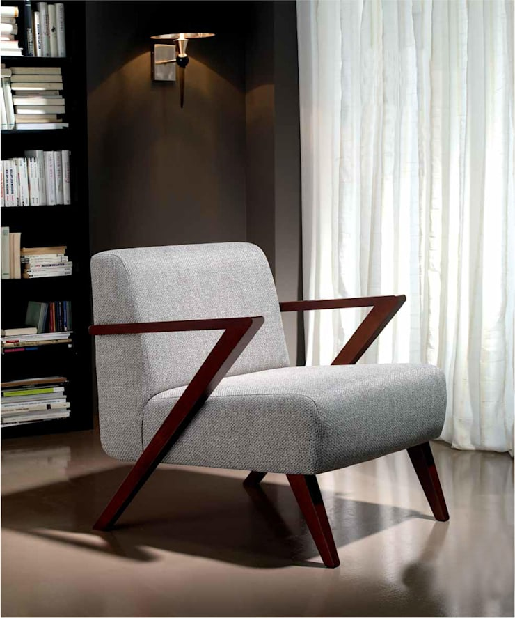 Sillón de Diseño Moderno Bolonia: Salones de estilo  de Ámbar Muebles