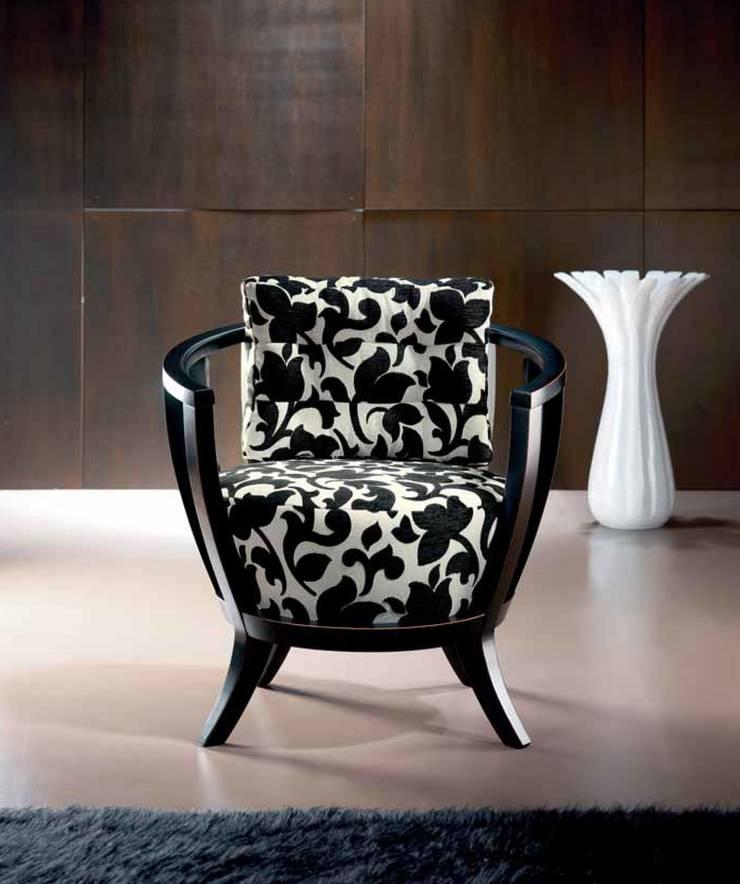 Sillón de Diseño Moderno Safira: Salones de estilo  de Ámbar Muebles