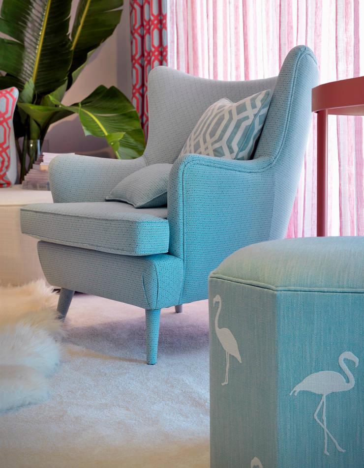 Capri & Flamingo by Aldeco:  Living room by AVOREZ | Exclusive UK Distributor