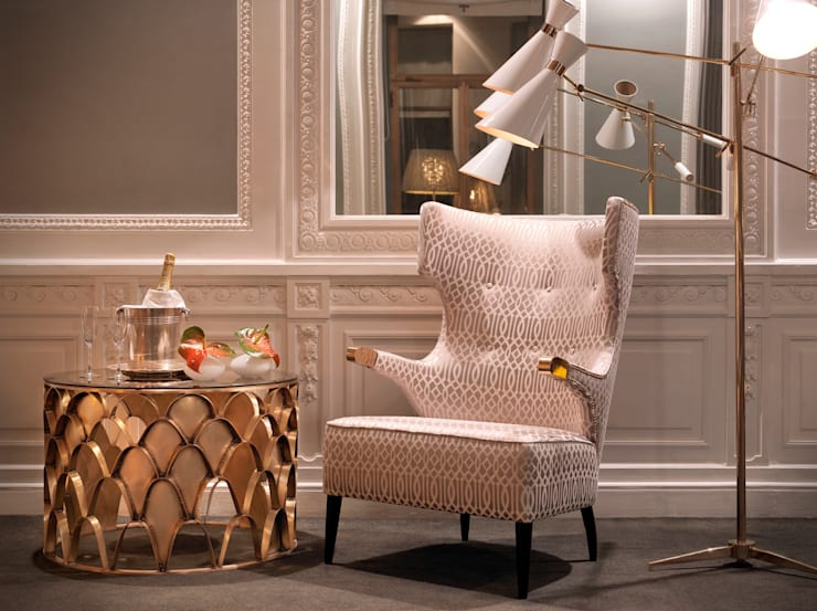 Ryad Dyor Taupe by Aldeco:  Living room by AVOREZ | Exclusive UK Distributor