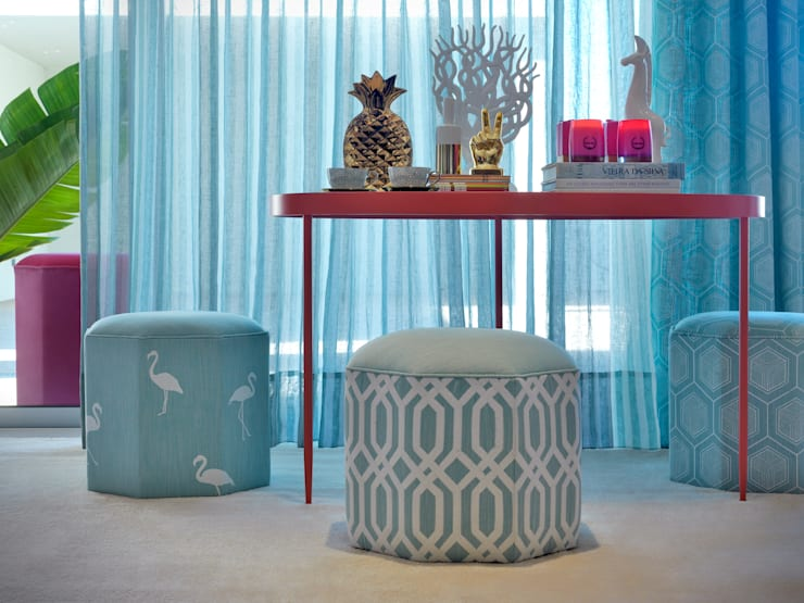 Tiffany Blues from the Adore collection by Aldeco:  Living room by AVOREZ | Exclusive UK Distributor