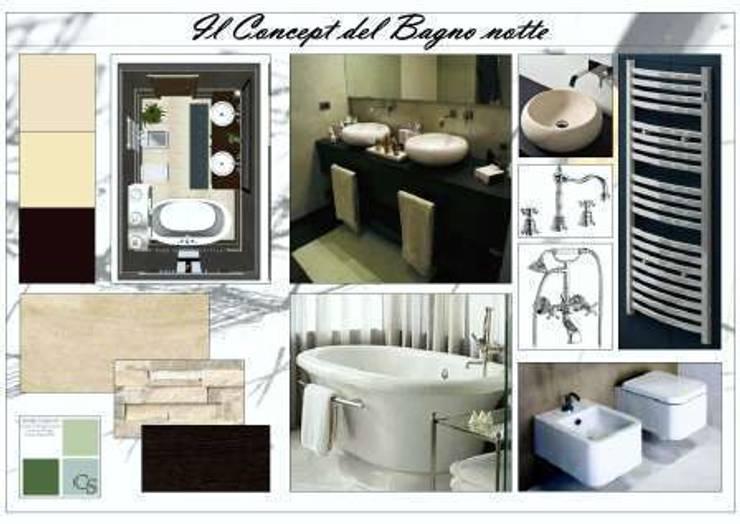 PROGETTO DI UN APPARTAMENTO A MILANO:  in stile  di Studio di Progettazione e Interior Design Cinzia Simonini