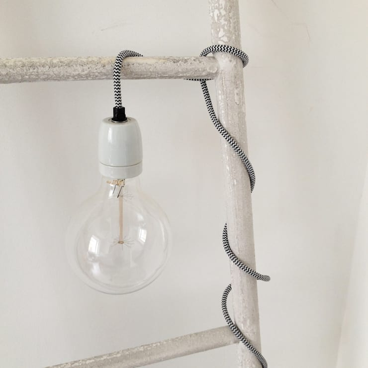 Bare bulb fabric flex light:  Household by An Artful Life