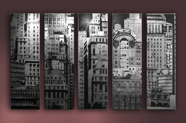 SILVER MANHATTAN : Murs & Sols de style  par ULGADOR