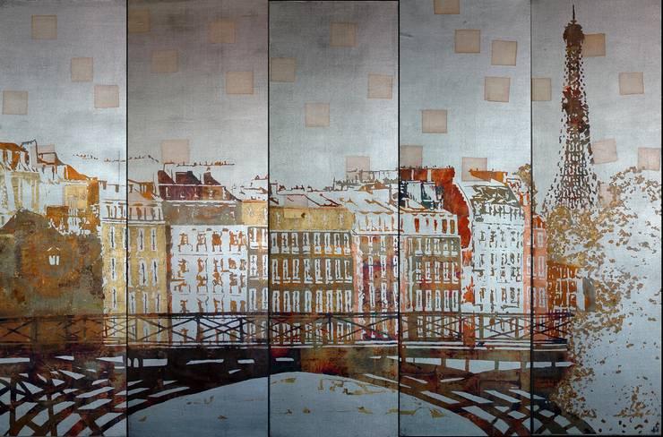 PARIS PONT DES ARTS: Murs & Sols de style  par ULGADOR