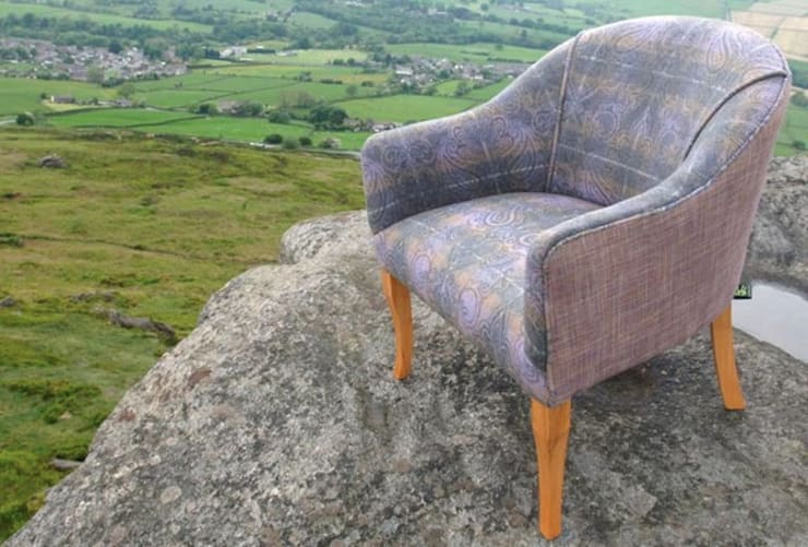 Swale Dale Tub Chair:  Living room by handmade