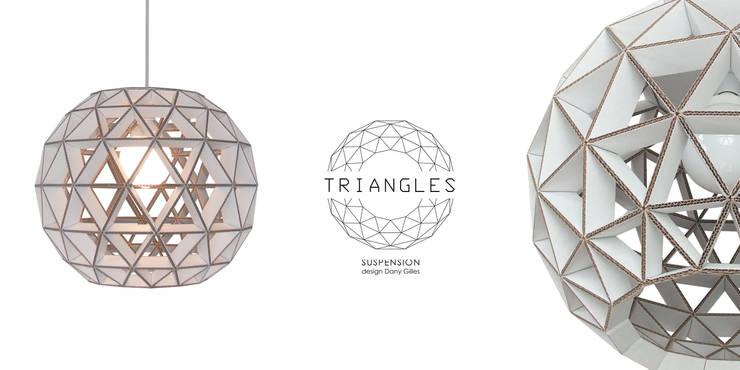 suspension TRIANGLES en carton ondulé: Bureau de style  par Dany Gilles