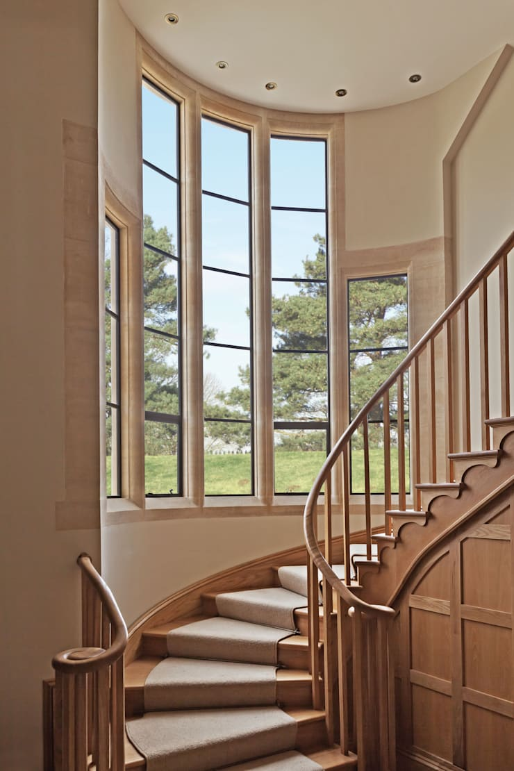 Advanced Bronze Casements on Staircase:  Windows & doors  by Architectural Bronze Ltd