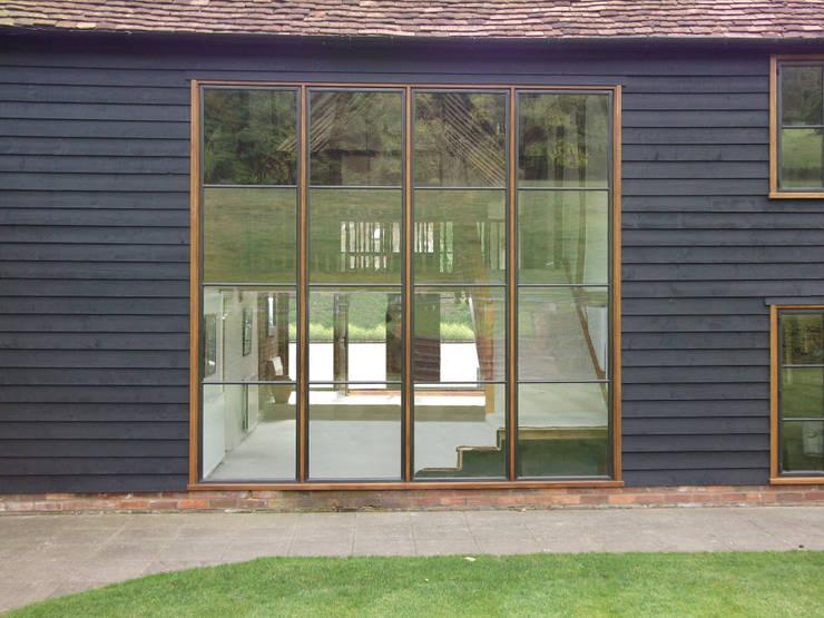 Advanced Bronze Screen on Barn Conversion:  Windows & doors  by Architectural Bronze Ltd