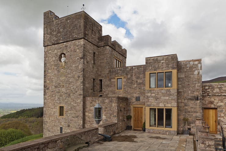 New Build with Heritage Bronze Casements:  Windows & doors  by Architectural Bronze Ltd