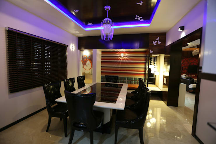 dining area:  Multimedia room by malvigajjar