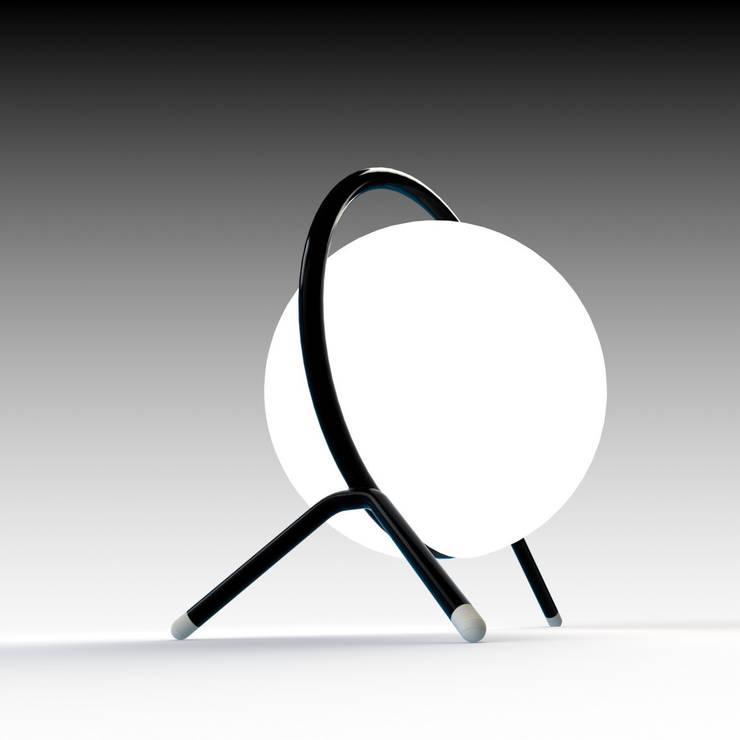 Lampe ANA By Barnabé Ribay: Salon de style  par BARNABÉ RIBAY DESIGN