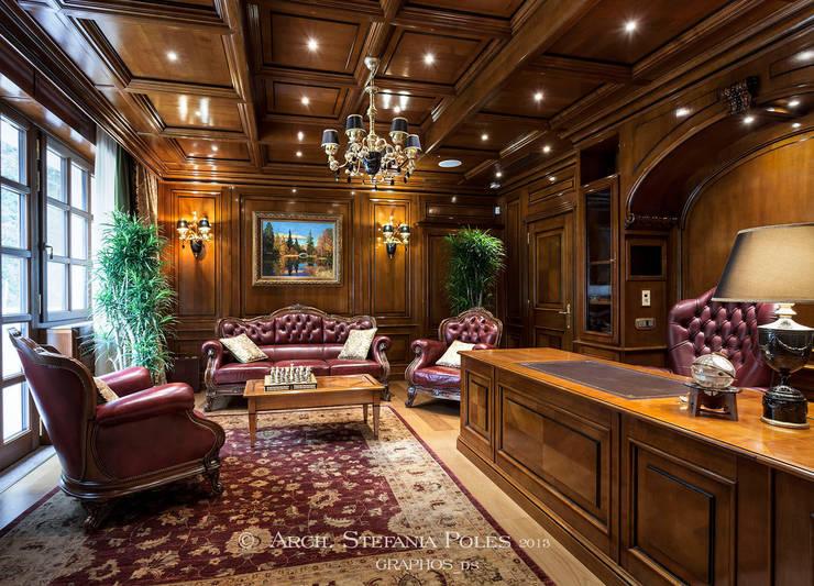 Villa a Mosca interni: Casa in stile  di GRAPHOS_DS
