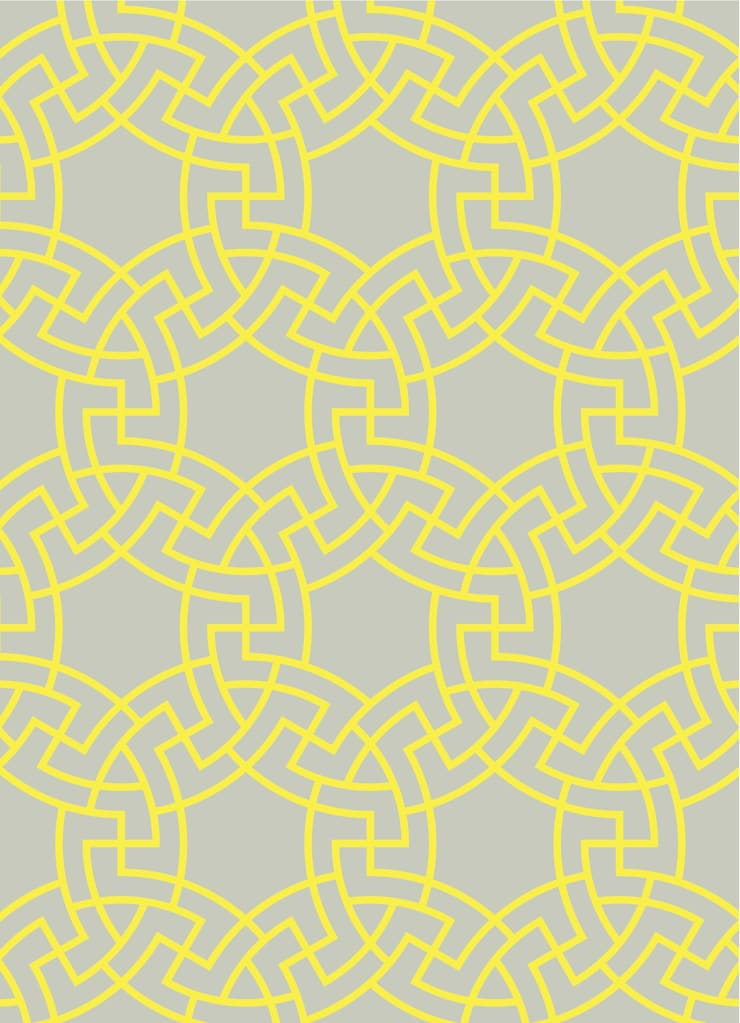 MICA Zen Rainbow Collection - Yellow:  Walls & flooring by Mica Gallery Ltd