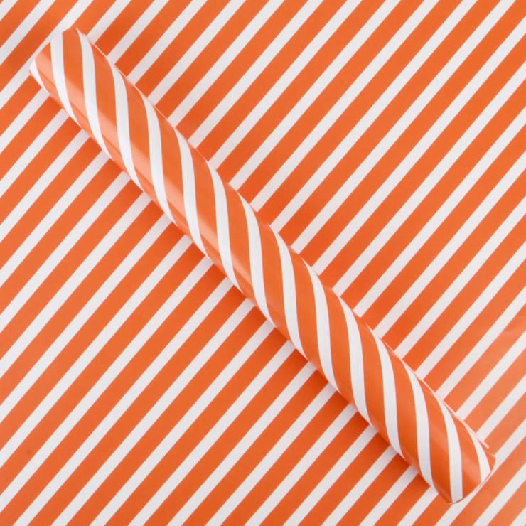 Sets de table rayures oranges: Maison de style  par my little day