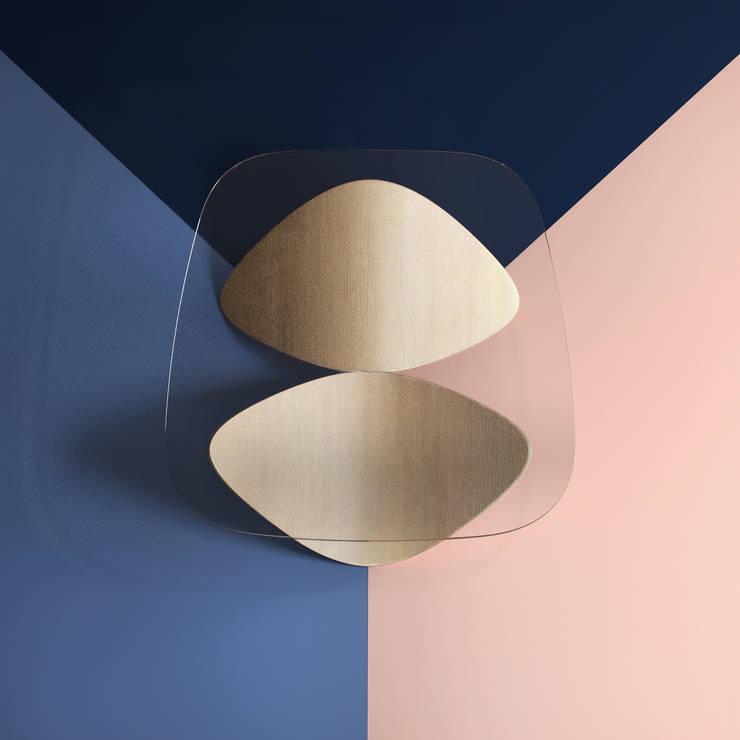 Parallax - Oak whitened: Soggiorno in stile  di Sandro Lopez ,
